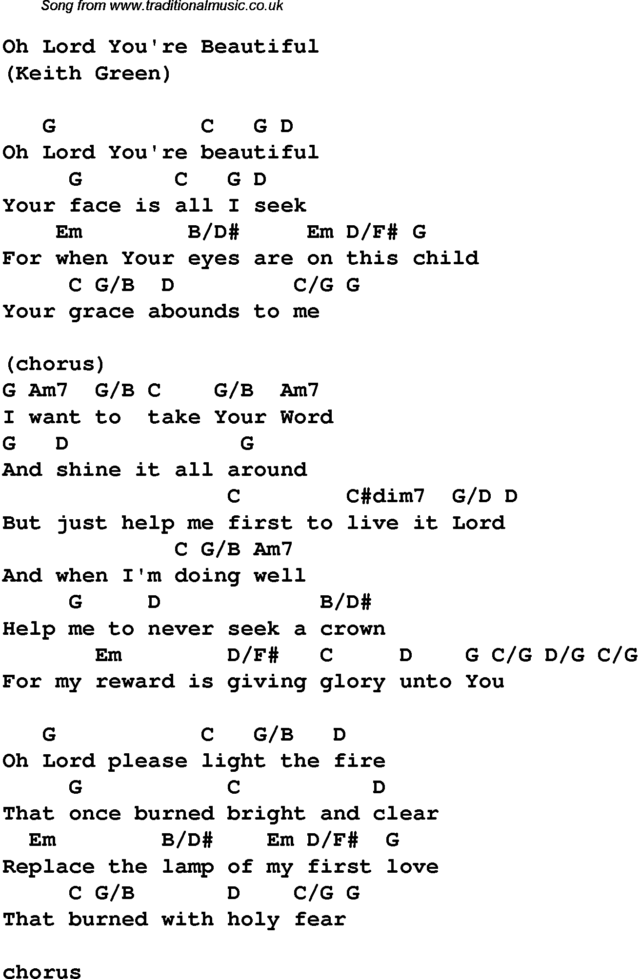 Christian Music Chords And Lyrics | Christian Music: Worship Song - Free Printable Lyrics To Christian Songs