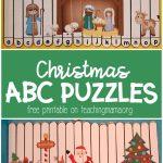 Christmas Alphabet Puzzles   Teaching Mama   Free Printable Alphabet Puzzles