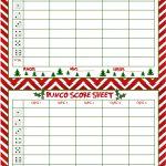 Christmas Bunco Score Sheets Free | Bunco | Bunco Score Sheets   Printable Bunco Score Cards Free
