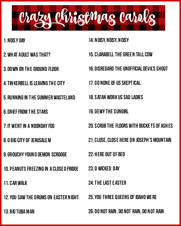 Christmas Charades Game And Free Printable Roundup! | Cool Stuff - Free Printable Christmas Song Quiz