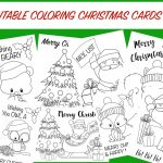 Christmas Coloring Cards   Free Printable Christmas Activity For Kids   Free Christmas Printables For Kids