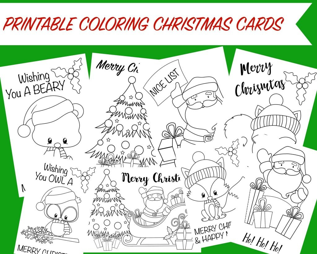 Christmas Coloring Cards - Free Printable Christmas Activity For Kids - Free Christmas Printables For Kids