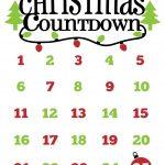 Christmas Countdown Free Printable And Free Svg | Cricut | Christmas   Christmas Countdown Free Printable