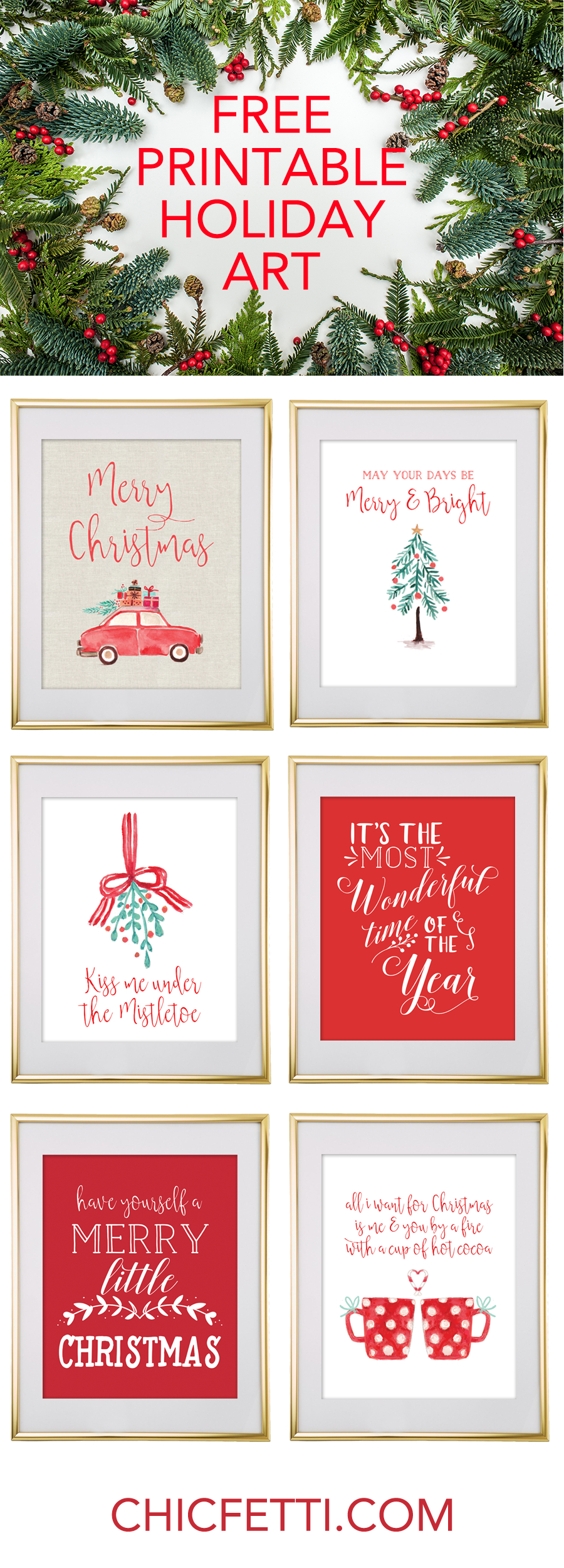Christmas Free Printable Wall Art | Free Printables - Free Printable - Free Christmas Printables