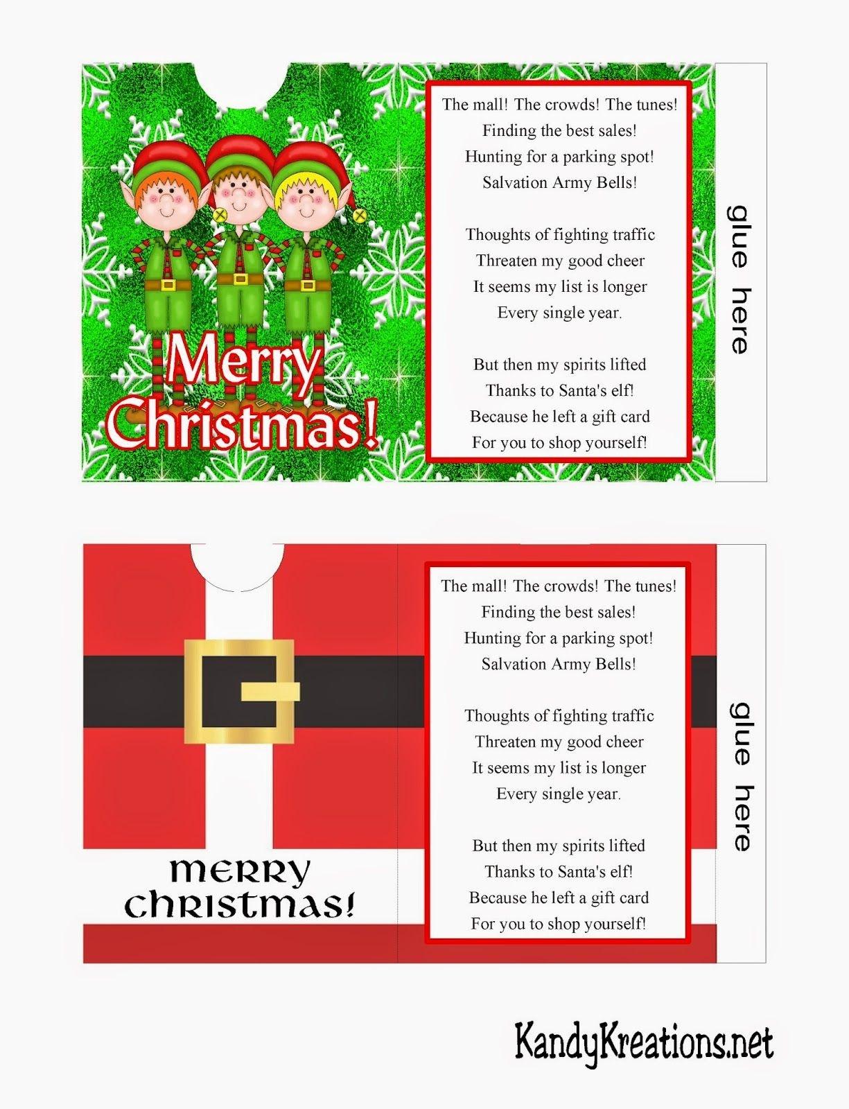 Christmas Gift Card Envelope Free Printables | Christmas Printables - Free Printable Christmas Gift Card Envelopes