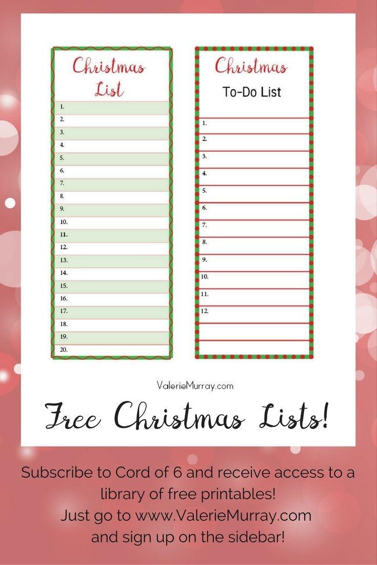Christmas List Maker   Examples And Forms - Free Printable Christmas List Maker