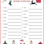 Christmas Scrambler Free Kids Puzzle Printables | Christmas Family   Free Printable Christmas Puzzles