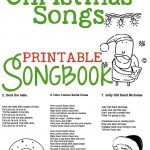 Christmas Songs For Kids – Free Printable Songbook! A Coloring Book   Free Printable Lyrics To Christmas Carols