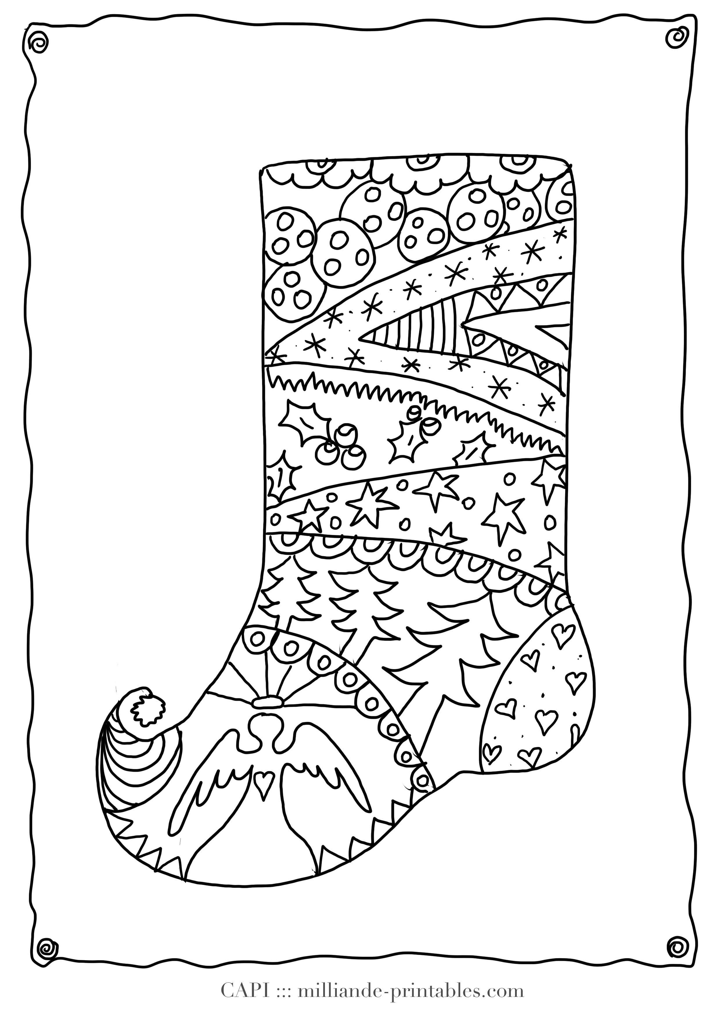 Christmas Stocking To Color Free Printable Christmas Coloring Pages - Free Printable Christmas Coloring Sheets