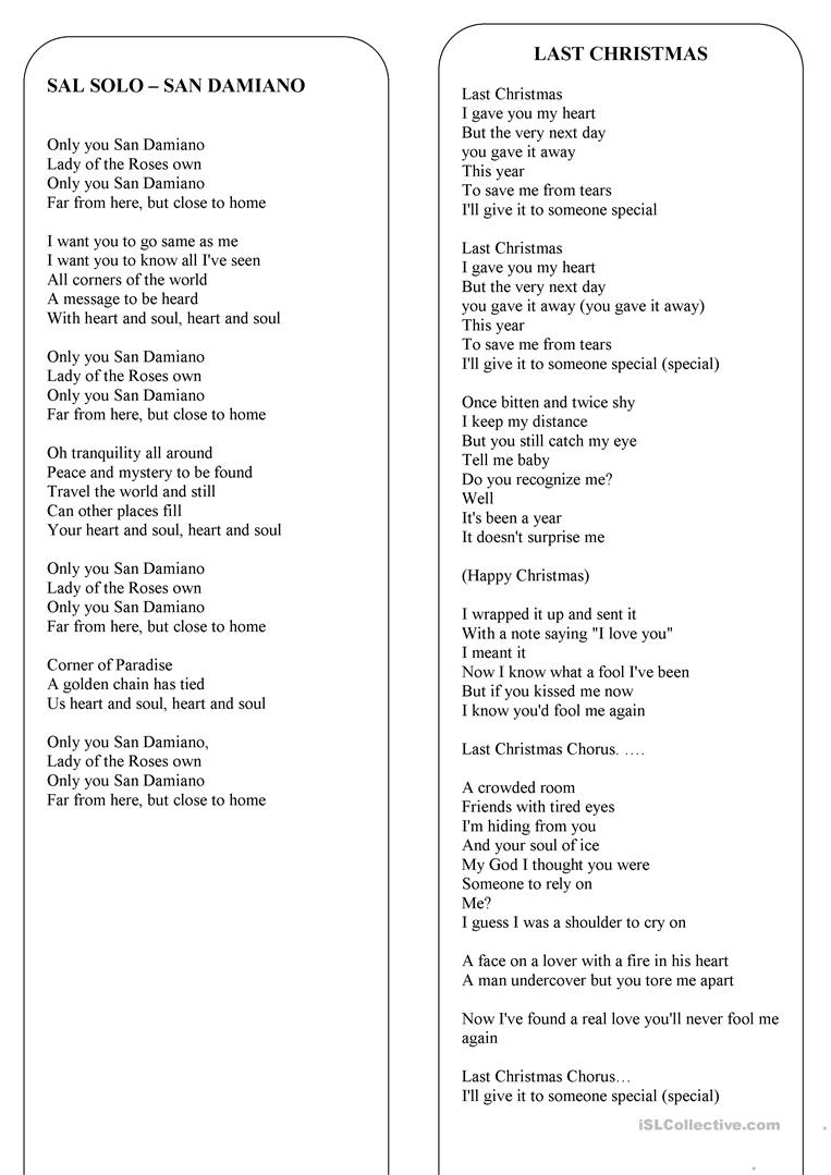 Christmas - The Lyrics Of 8 The Best Christmas Songs And Carols - Free Printable Lyrics To Christmas Carols