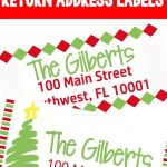 Christmas Themed Return Address Labels | The Ultimate Pinterest   Free Printable Return Address Labels