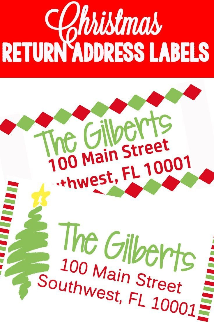 Christmas Themed Return Address Labels | The Ultimate Pinterest - Free Printable Return Address Labels