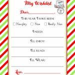 Christmas Wishlist Printable Letter ⋆ Real Housemoms   Free Printable Christmas Wish List
