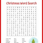 Christmas Word Search Free Printable For Kids Or Adults   Free Printable Christmas Puzzles Word Searches