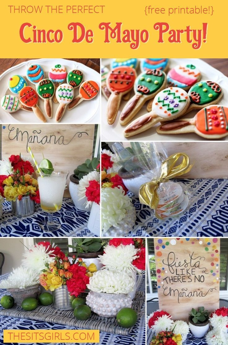 Cinco De Mayo Party Ideas + Free Printable | Cinco De Mayo Party - Free Printable Mexican Party Decorations