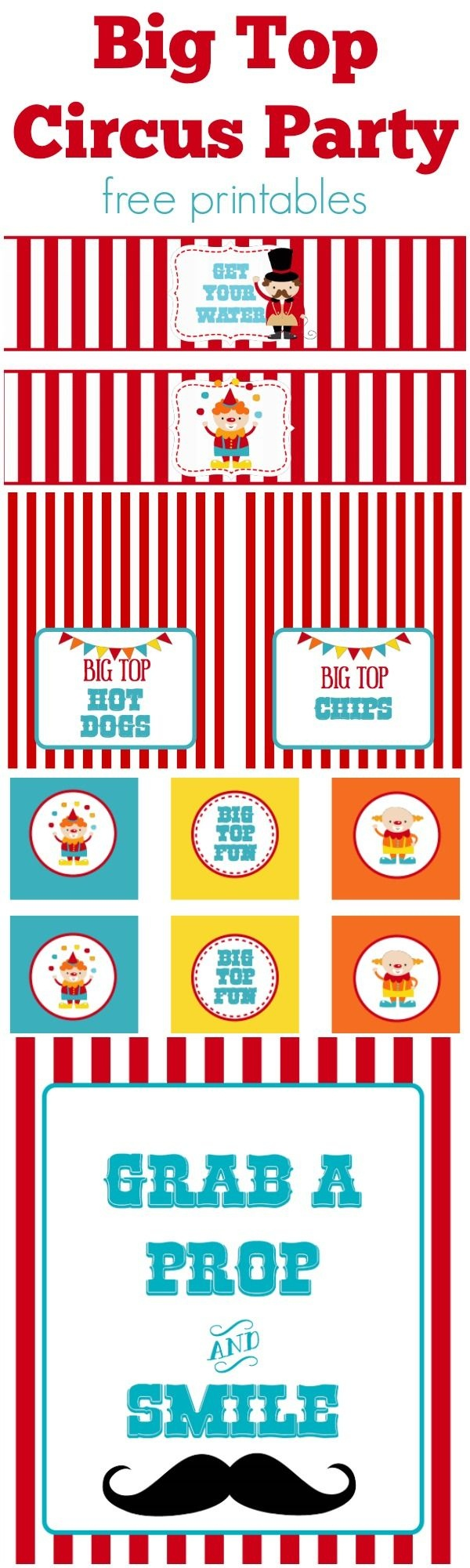 Circus Party | Free Printables | Free Printables | Circus Party - Free Printable Carnival Decorations