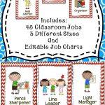 Classroom Jobs {Editable} | Back To School/september | Classroom   Classroom Helper Chart Free Printables
