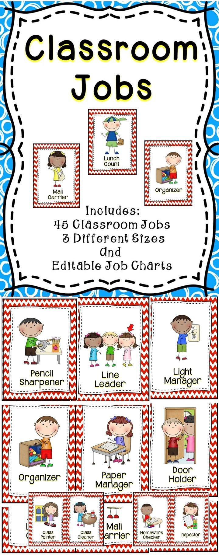 Classroom Jobs {Editable} | Back To School/september | Classroom - Classroom Helper Chart Free Printables