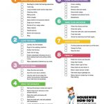 Cleaning Checklists   Free Printable Home Cleaning Routines   Free Printable House Cleaning Checklist For Maid