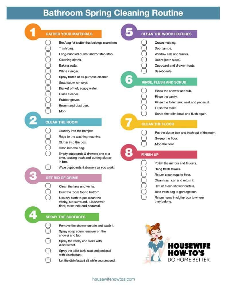 Cleaning Checklists - Free Printable Home Cleaning Routines - Free Printable House Cleaning Checklist For Maid