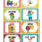 Cleaning Classroom Clipart | Classroom Job Chart | Classroom Helpers   Classroom Helper Chart Free Printables