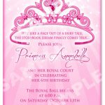 Click On The Free Printable Princess Party Invitation Template To   Free Printable Princess Invitation Cards