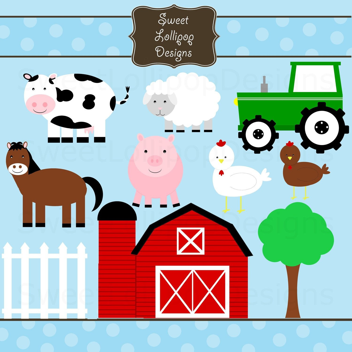 Clipart Farm Animals - Free Large Images | Farm Bday Party In 2019 - Free Printable Farm Animal Cutouts