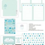Cloudy Days Stationery Printables On Happyprintclub | Cute   Free Printable Cloud Stationery