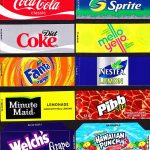 Coke Machine Labels | 10 Coke Mixed Set Small Flavor Labels Soda   Free Printable Vending Machine Labels