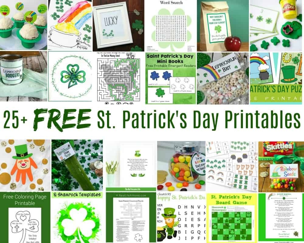 Collection Of Free St. Patrick's Day Printables (25+ Printables - Free St Patrick's Day Printables