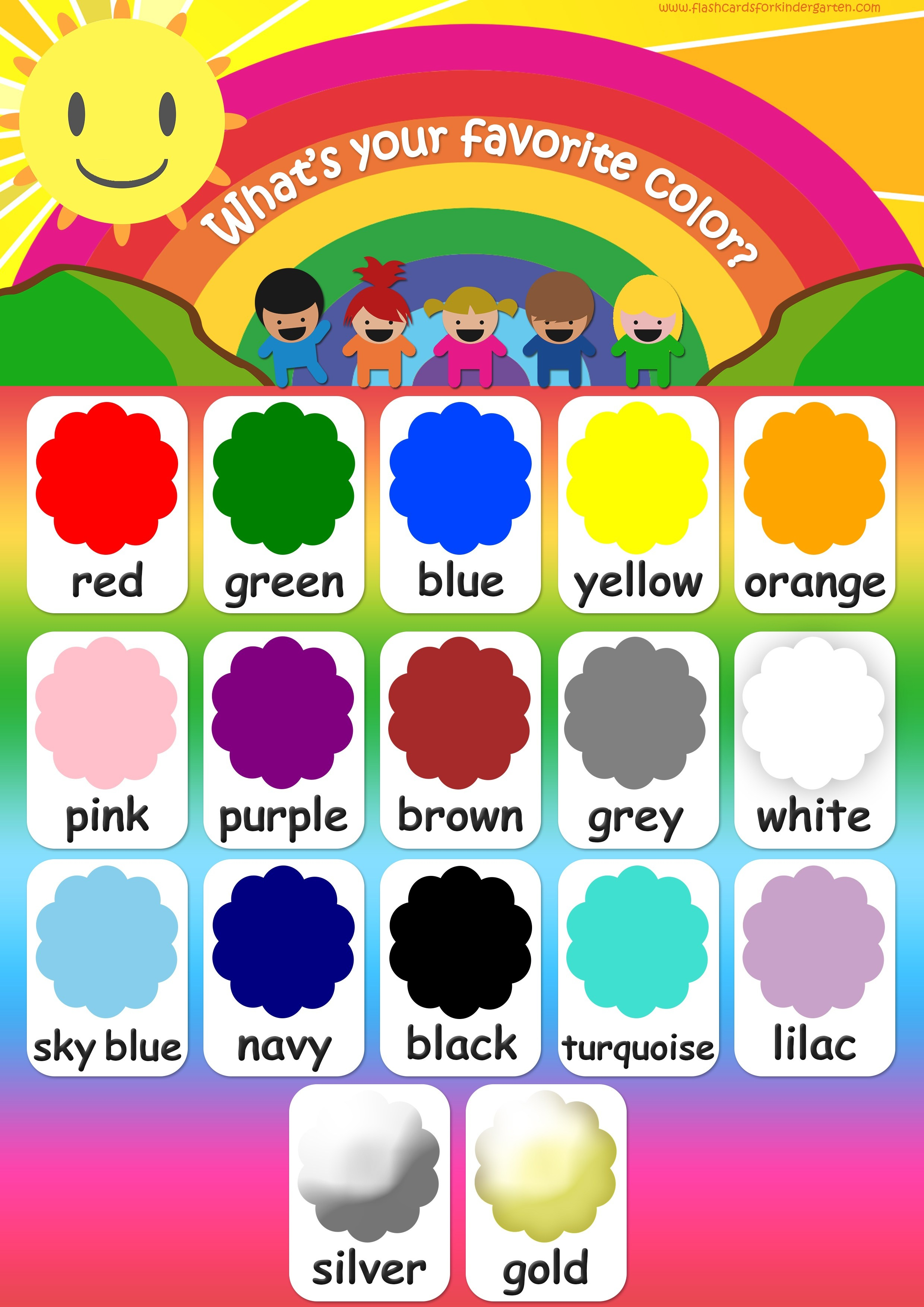 Color Flashcards - Teach Colors - Free Printable Flashcards & Posters! - Color Flashcards Printable Free