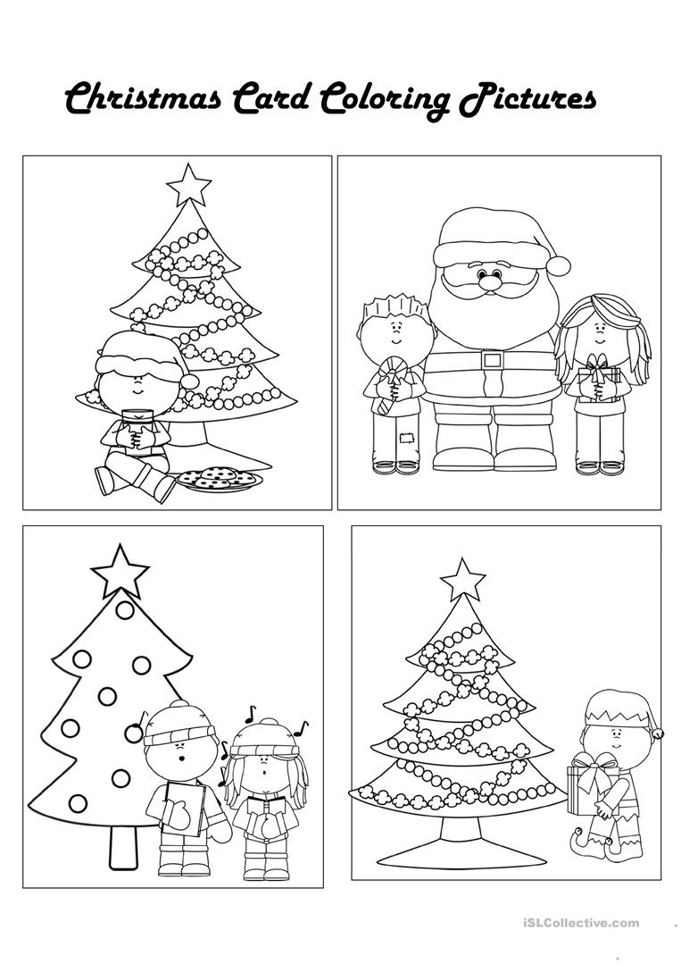 Color Your Own Christmas Cards Worksheet - Free Esl Printable - Free Printable Color Your Own Cards