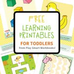 Colorful & Fun Free Printables For Toddlers To Learn From   Toddler Learning Activities Printable Free