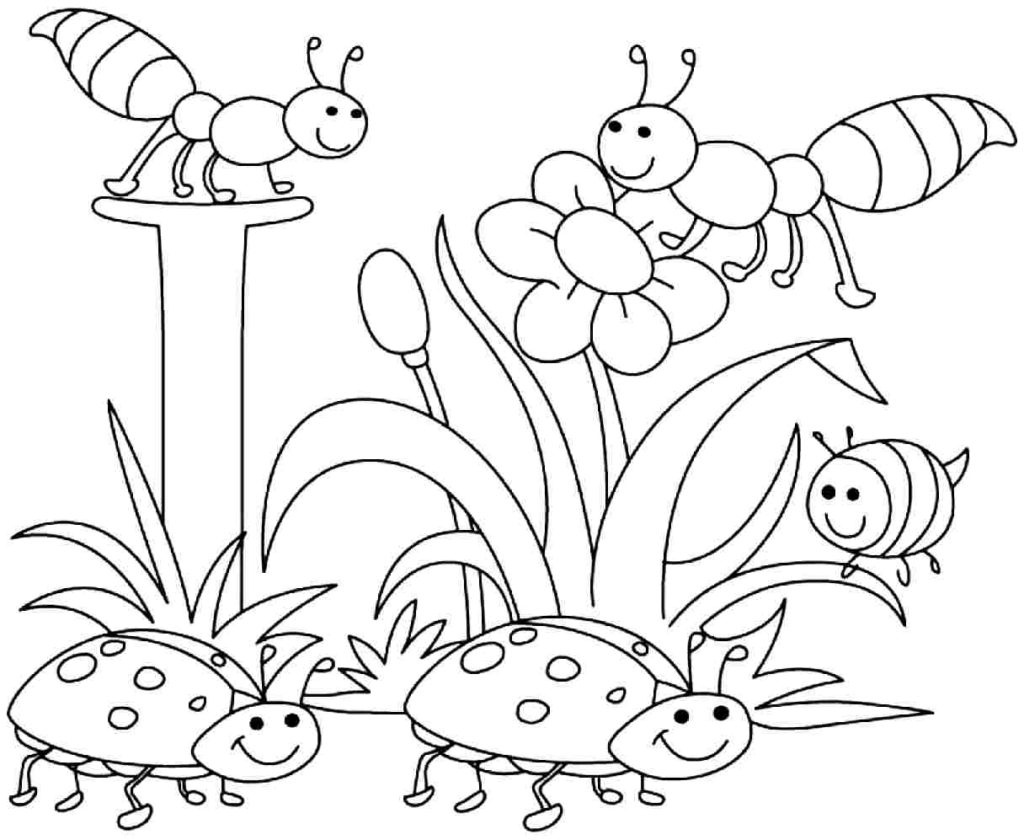 Coloring Book World ~ Freetable Spring Coloring Pages And Activities - Free Printable Spring Coloring Pages For Kindergarten