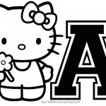 Coloring Book World ~ Nice Hello Kitty Ballerinang Pages Throughout   Free Printable Hello Kitty Alphabet Letters