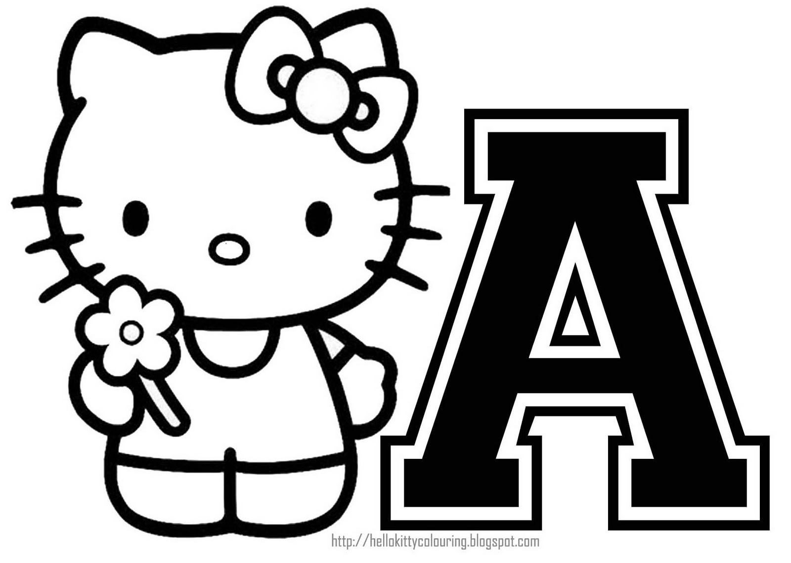 Coloring Book World ~ Nice Hello Kitty Ballerinang Pages Throughout - Free Printable Hello Kitty Alphabet Letters
