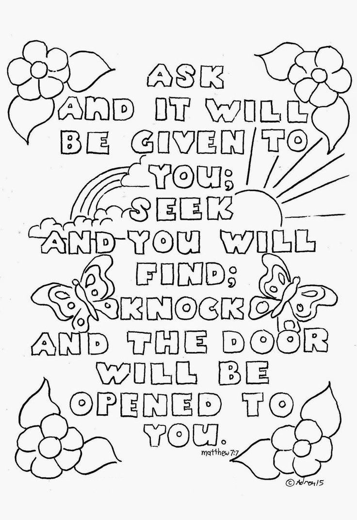 Coloring Book World ~ Top Free Printable Bible Verse Coloring Pages - Free Sunday School Printables