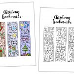 Coloring Christmas Bookmarks Free Printable   Free Printable Baby Bookmarks