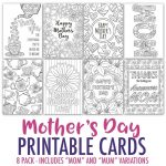 Coloring ~ Free Mothers Day Card Cards Gift And Craft Printable To   Free Printable Mothers Day Cards To Color