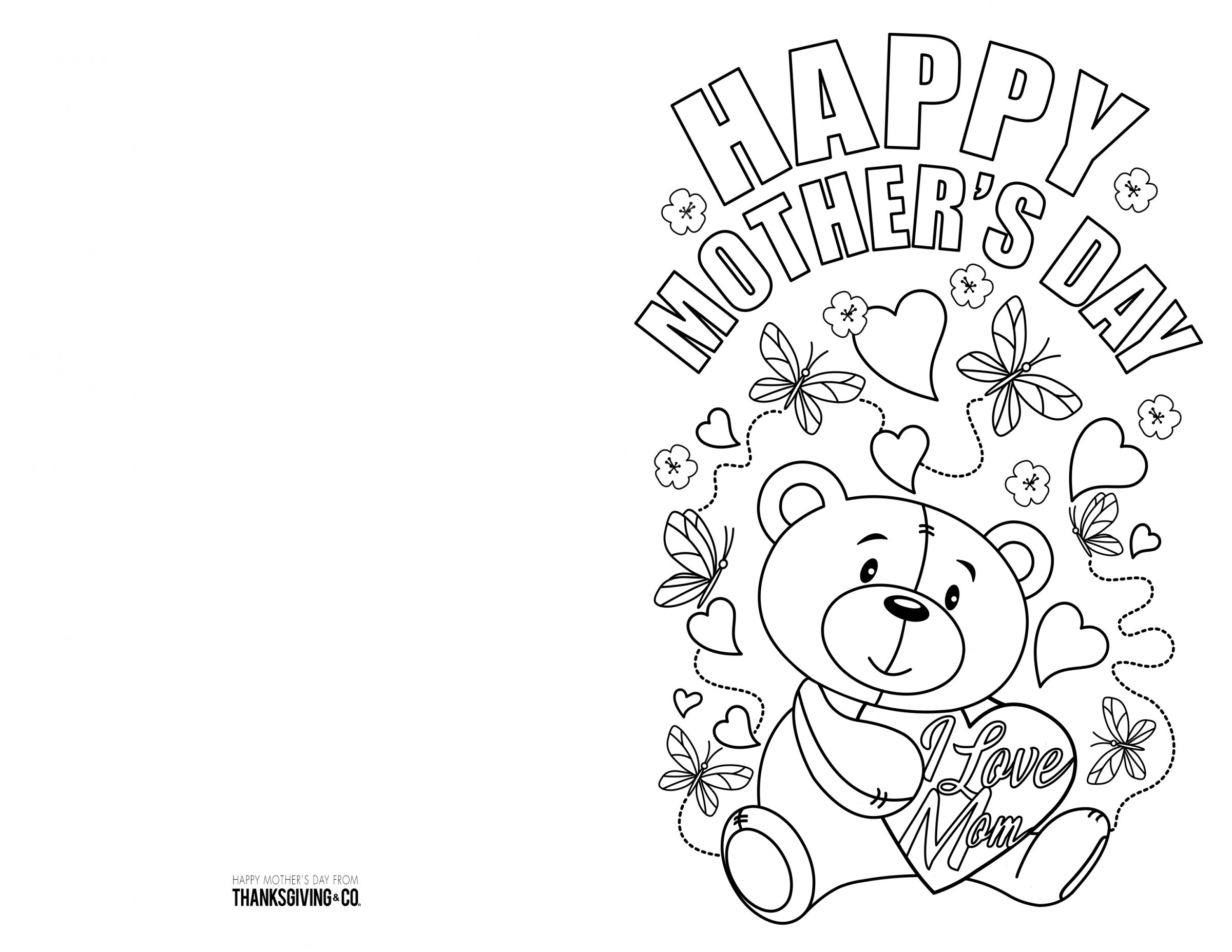 Coloring ~ Free Mothers Day Colouring Cards Pin Coloring Picture - Free Printable Mothers Day Coloring Cards