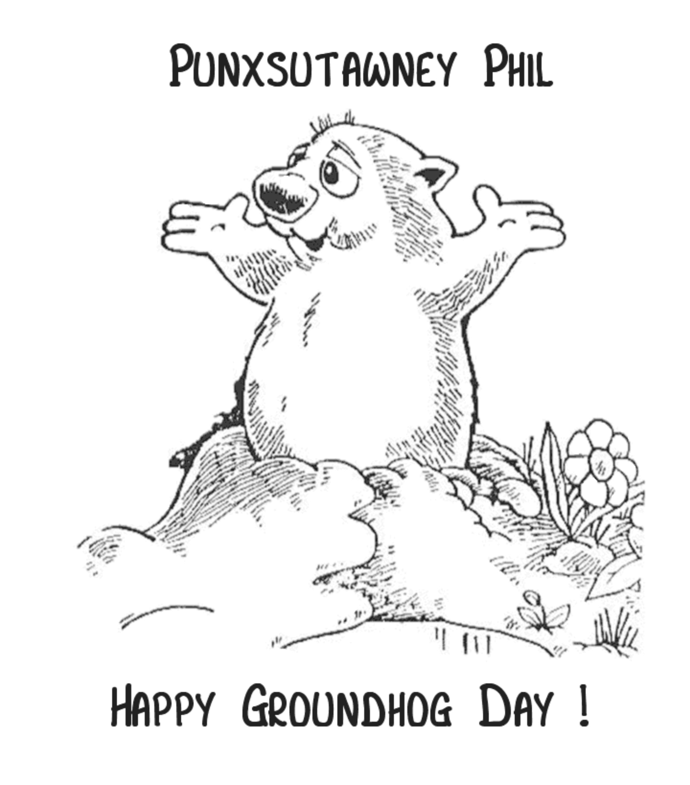 Coloring ~ Free Printable Groundhog Day Activities For Kindergarten - Free Groundhog Day Printables