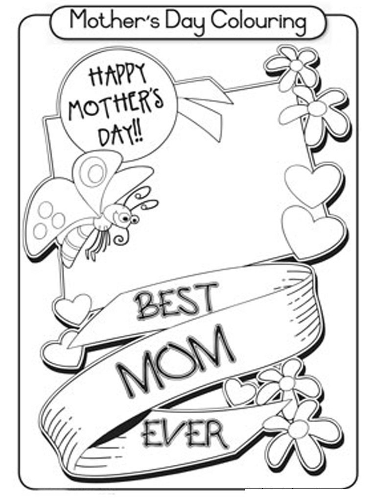 Coloring ~ Free Printable Mothers Day Cards Toour Mum In The - Free Printable Mothers Day Cards To Color