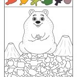 Coloring ~ Groundhog Day Coloring Pages Free Printable For Kids   Free Groundhog Printables Preschool
