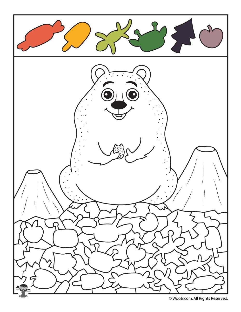 Coloring ~ Groundhog Day Coloring Pages Free Printable For Kids - Free Groundhog Printables Preschool
