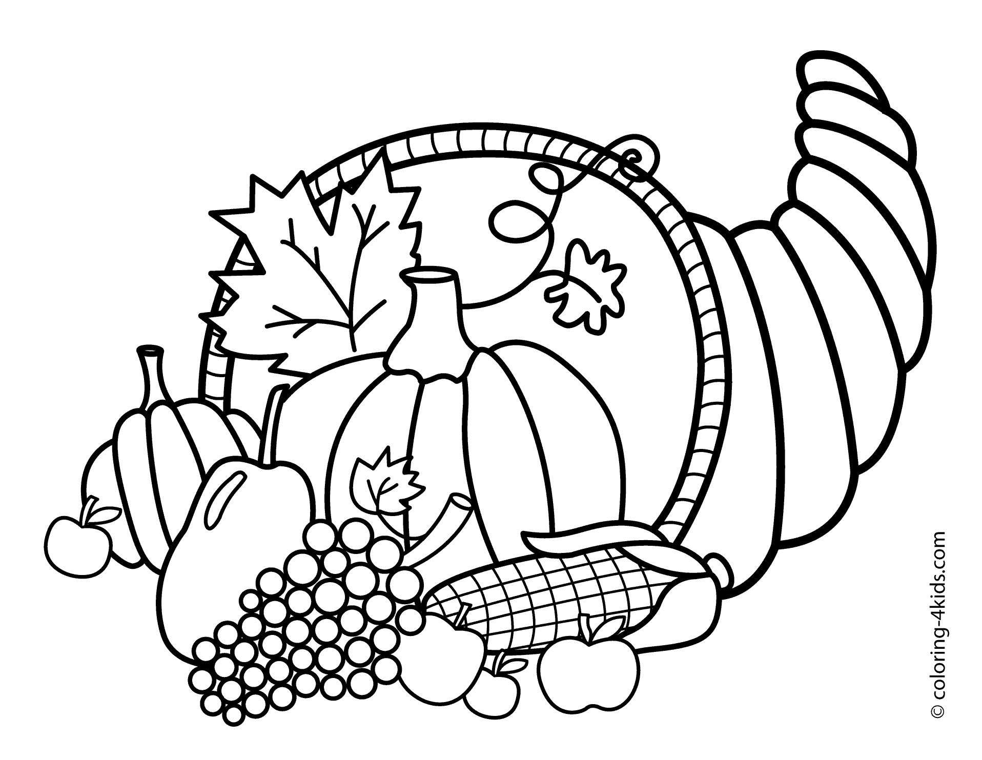 Coloring Ideas : Coloring Pages Of Thanksgiving Print Color Craft - Free Printable Thanksgiving Coloring Pages