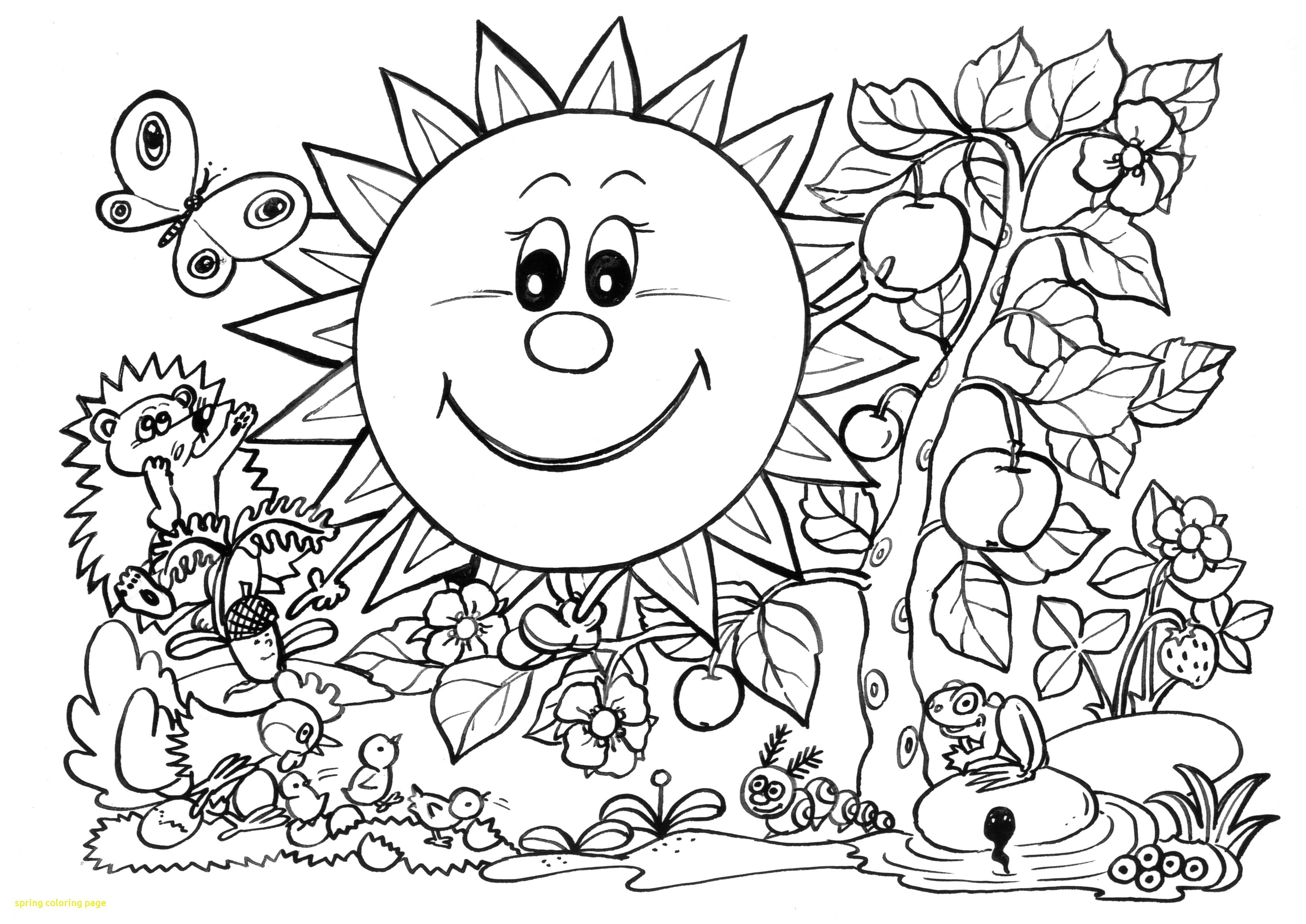Coloring Ideas : Cute Spring Coloring Pages Unique Free Printable - Free Printable Spring Coloring Pages