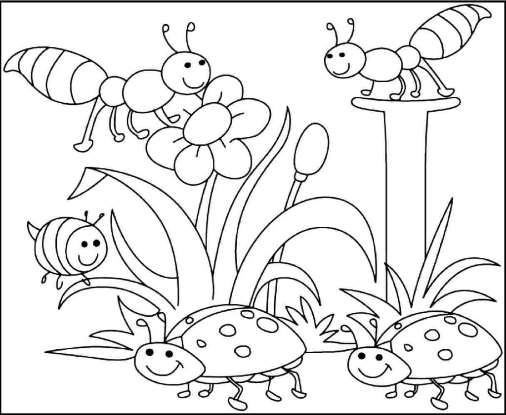 Coloring Ideas : Free Printable Spring Coloring Pages For Pictures - Free Printable Spring Pictures To Color