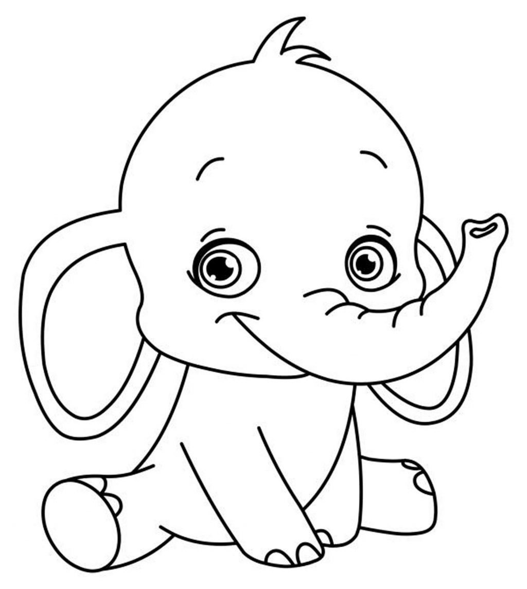 Coloring Page ~ Childrens Colouring Pages Print Elephant Learning - Free Printable Coloring Pages For Preschoolers