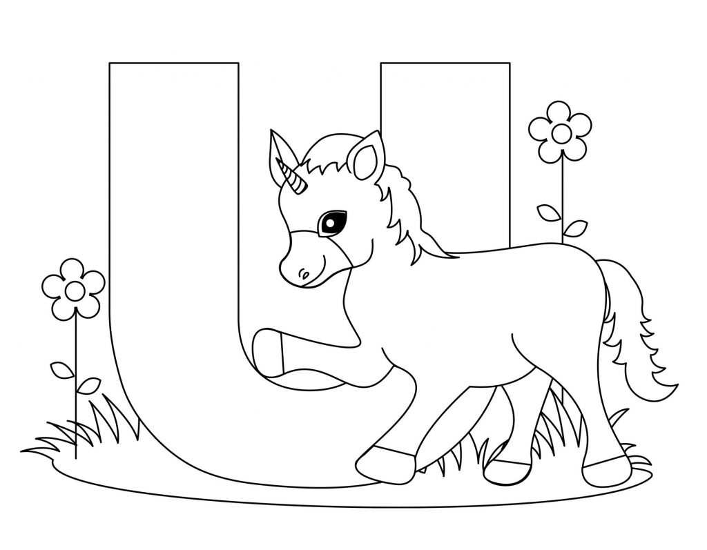 Coloring Page ~ Coloring Page Alphabet Pages Letter U Free Printable - Free Printable Letter U Coloring Pages