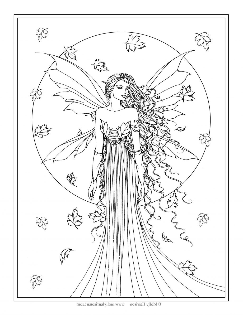 Coloring Page ~ Fairy Coloring Pages For Adults Free Printable - Free Printable Coloring Pages Fairies Adults